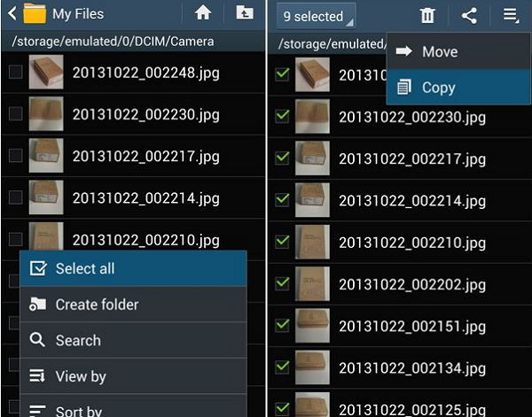 move photos from android to sd card