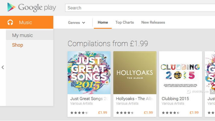 log into google play music