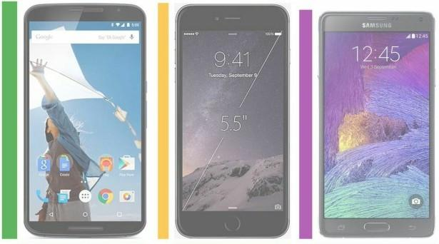 nexus 6 vs. note 4 vs. iphone 6 plus