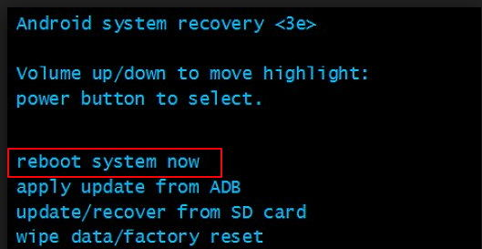 exit android device out of recovery mode