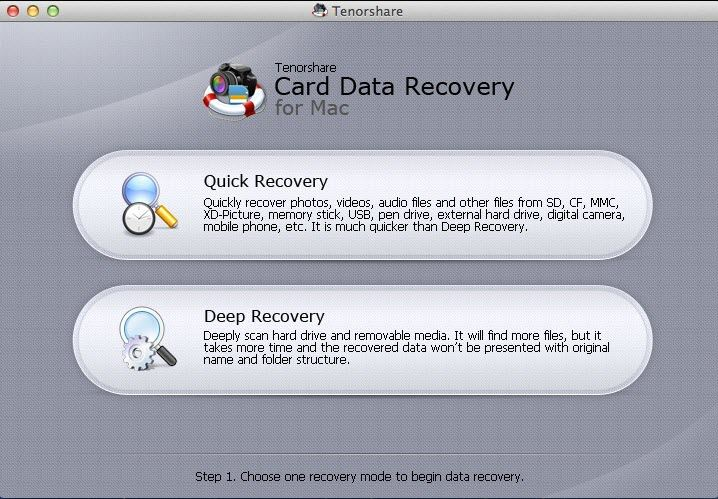 recover formatted photos from camera on Mac