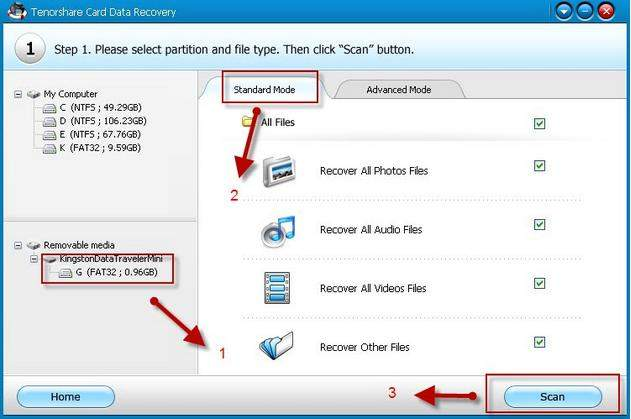 recover files with card data recovery