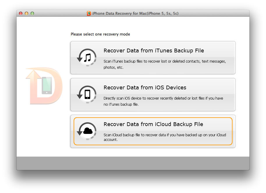 recover iphone data on mac os x