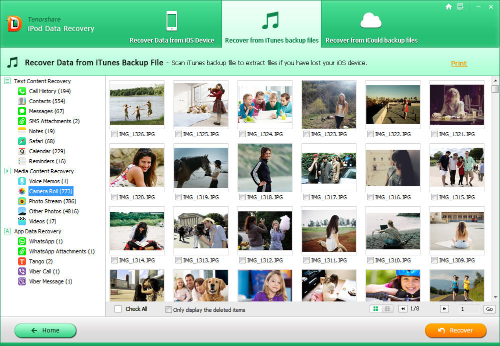 recover deleted ipod photos
