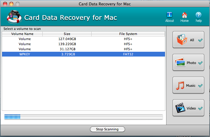 Card Data Recovery for Mac